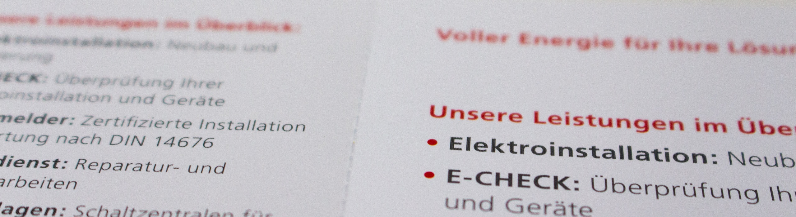 Flyer mit Perforation Detail hinten