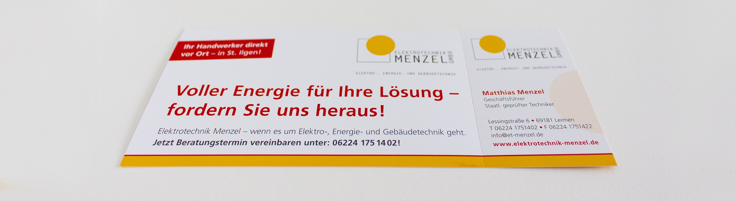 Flyer mit Perforation