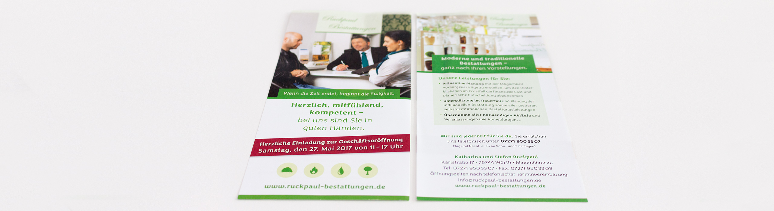 Ruckpaul Bestattungen Aktionsflyer
