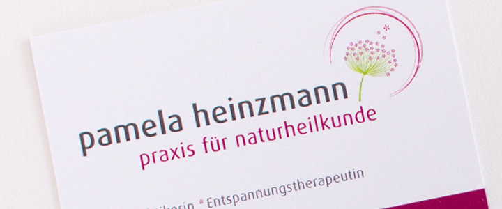 Heilpraktikerin mit neuem Corporate Design